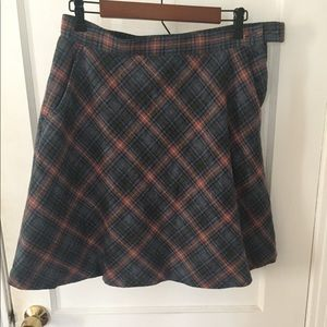 Vintage LizWear wool plaid skirt